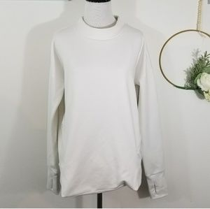 Athleta White Long Sleeve Top